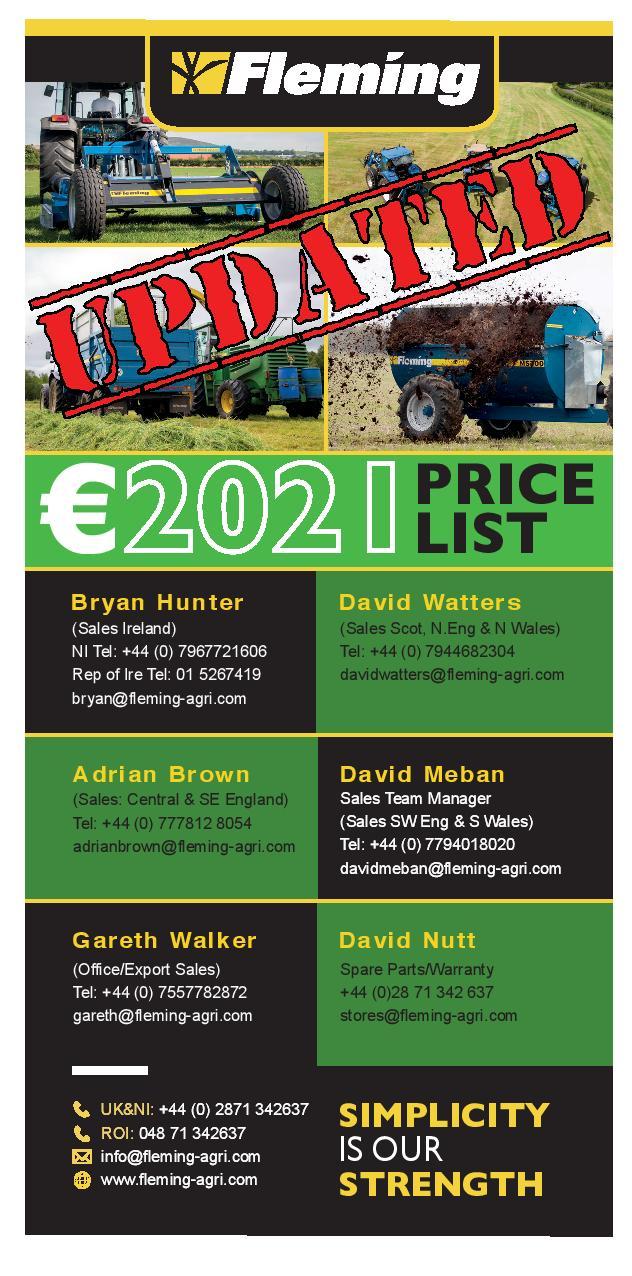 euro price list cover photo